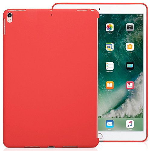 KHOMO - iPad Pro 10.5 Inch & iPad Air 3 2019 Red Color Case - Companion Cover - Perfect match for Apple Smart keyboard and Cover