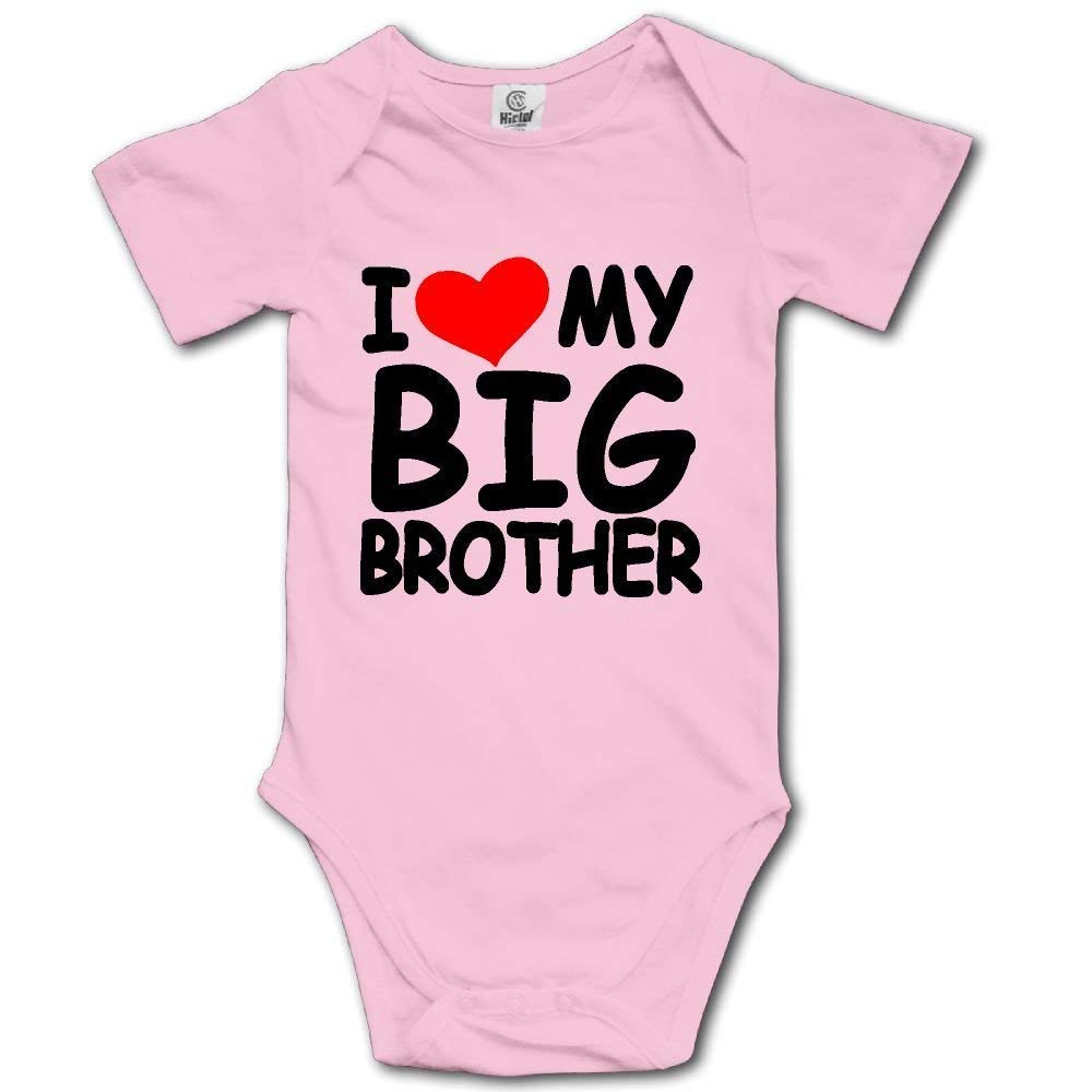 Funny I Love My Big Brother Onesies Bodysuits Romper Creeper for 0-24m Baby