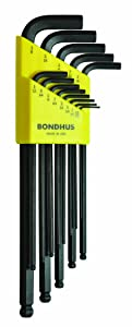 Bondhus 10937 Set of 13 Balldriver L-wrenches, sizes .050-3/8-Inch