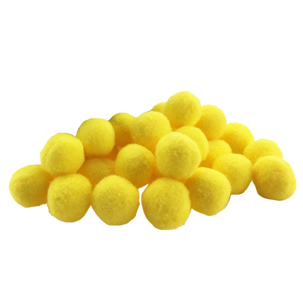Gazechimp Set De 100 Pcs Pompons Couleurs Vibrantes Pompons De Petits Métiers Moelleux - blanc