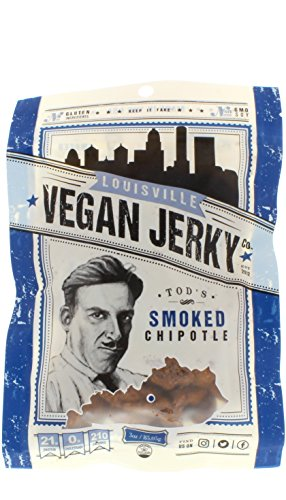 Price comparison product image Louisville Vegan Jerky - Smoked Chipotle, Vegetarian & Vegan Friendly Jerky, 21 Grams of Non-GMO Soy Protein, Gluten-Free Ingredients (3 oz.)
