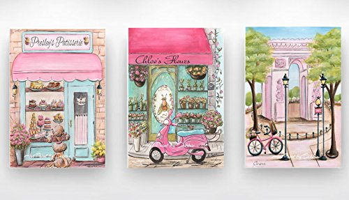 Pink Paris Bedroom Decor  Canvases,  Patisserie