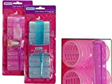 CLING HAIR ROLLERS 5PC+COMB6DIAX3.5CM BL+PK CLR , Case of 96