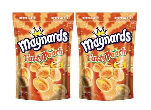 Fuzzy Peach - Maynards Fuzzy Peach Candy, 355 Gram (2 Pack) - Imported from Canada