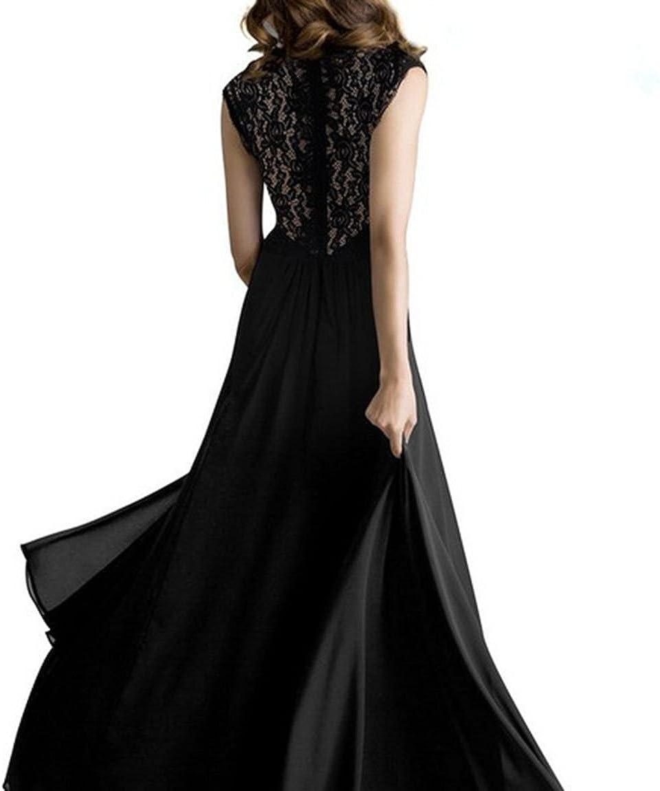 Tkiames Elegante Donna Vestito Lunghi Vintage Senza Maniche Lungo Abito da Sera