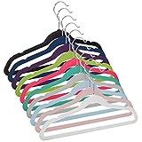 """Casafield 50 Velvet Kid's Hangers - 14"""" Size for Children's Clothes"""