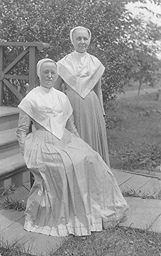 - Elder Anna Case & Sister Isabella Graves Real Photo Watervliet, New York NY USA Shaker Postcard