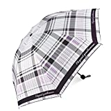 Rainbrace UV Sun Umbrella Compact Folding Travel Umbrella, Fast Drying, Windproof, Reinforced Canopy, Rainproof & 99% UV Protection with Black Anti-UV Coating, UPF50+