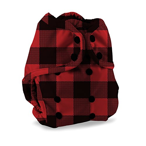 Buttons Cloth Diaper Cover - Snap Super One Size (12-40lbs) (Lumberjack)