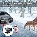 Ansblue Deer Alert for Vehicles,Animal Deer Warning Alarm,Avoids Deer Collisions Car Deer Warning,Ultrasonic Wildlife Warning for Auto Motorcycle Truck SUV and ATV - Black / 4pcs