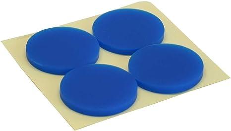 InLine® patas de goma, para PC caja, 4 unidades, color azul: Amazon.es: Informática