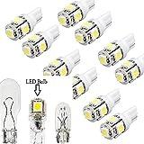 DSstyle LED Replacements for Malibu Landscape Light 5 Led/smd Per Bulb 194 T10 T5 Wedge Base Cool White(10 Pcs)