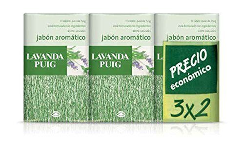 Agua Lavanda Puig By Antonio Puig For Men and Women. Set-set Of 2 Soaps Plus 1 Free And Each Is 4.4 - Puig Agua Set Lavanda