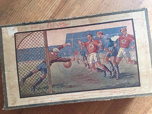 - Vintage Tin Germany Mechanical Soccer Game Old with Box