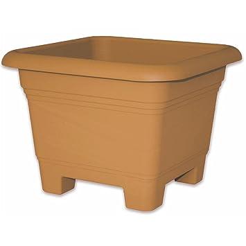 Xxl Nora Pot De Fleurs Carre Terre Cuite 48 Cm Resistant Au Gel Pot