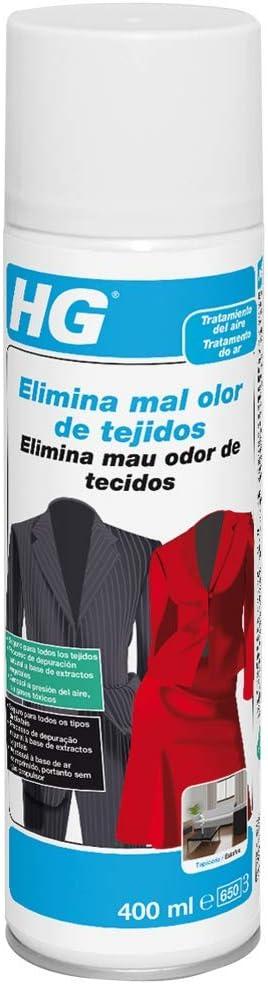 HG 429040130 - elimina mal olor de tejidos 400 ml (envase de 400 ml)