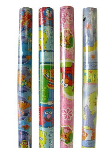 Sesame Street Gift Wrap- One roll of Sesame Street wrapping paper (assorted design)