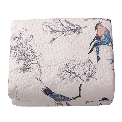 Best Comforter Sets, Flying Birds Printing 3 Piece Cotton Bedspread/Quilt Sets, ()