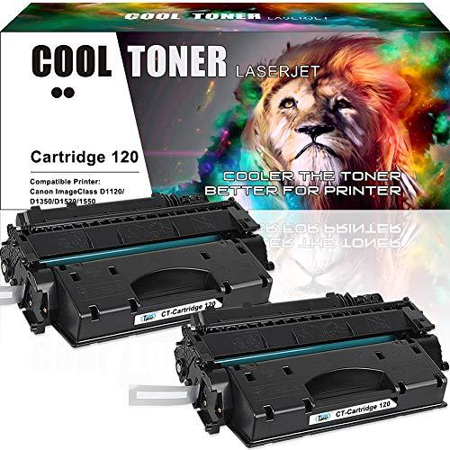 Cool Toner Compatible Toner Cartridge Replacement for Canon 120 CRG-120 Cartridge 120 Canon Imageclass D1550 D1520 D1320 D1120 D1350 D1150 D1370 D1170 D1180 Canon D1520 D1550 Ink Toner Printer 2Pack (120 Black Cartridge Toner)
