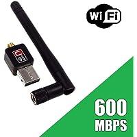 Adaptador Receptor Wireless 802 Usb Wifi Antena Long Sem Driver