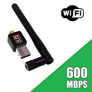 Terabyte USB 802.11N Wi Fi Wireless LAN Network Card Adapter with Antenna  Multicolor  Wireless USB Adapters