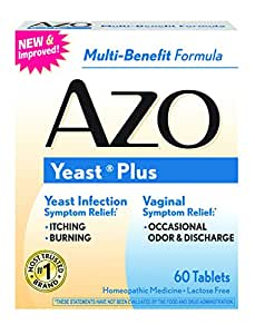 AZO Yeast Plus Multi Benefit Formula 60 Tablets (3 Pack)