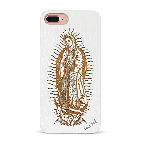 best quality 41272 f6266 iPhone 8 Plus Case, CaseYard[Wood Series]SlimFit Hybrid Case for iPhone 8  Plus Lightweight Premium Made in California(iPhone 8 Plus) White Virgin Mary