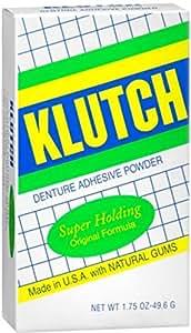 Klutch Denture Adhesive Powder Super Hold 1.75 oz (Pack of 11)