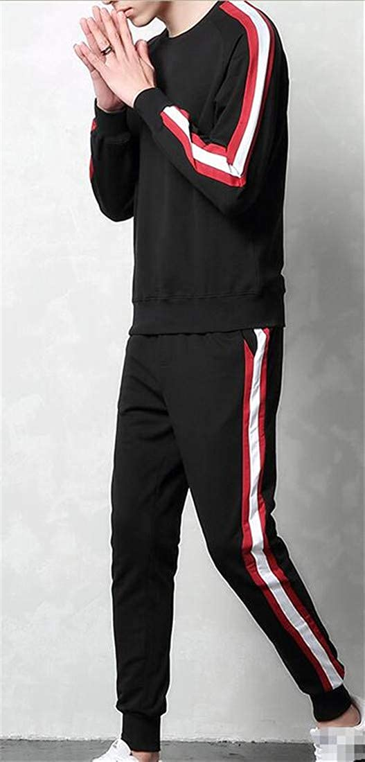 Sweatwater Mens Casual Activewear Crew Neck Sweatshirts Sweatpants Tracksuit Set