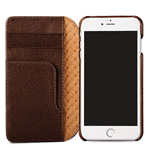 Vaja Wallet Agenda for iPhone 7 - Folio style - 3-Card Slot and Bill Compartment - Bridge Pinecone & London by Vaja
