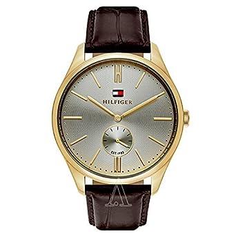 c960ee060c29 [トミーヒルフィガー]TOMMY HILFIGER メンズ 腕時計 スモールセコンド ゴールド ブラウン レザー 1791170 腕時計 [