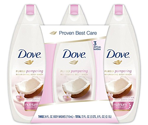Dove Purely Pampering Body Wash, Coconut Milk (24 fl. oz., 3 pk.) (Coconut Body Wash Jasmine)