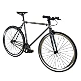 Golden Cycles Single Speed Fixed Gear Bike with Front & Rear Brakes...