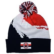 Ottawa Senators Mitchell & Ness NHL Vintage Paintbrush Cuffed Pom Knit Hat