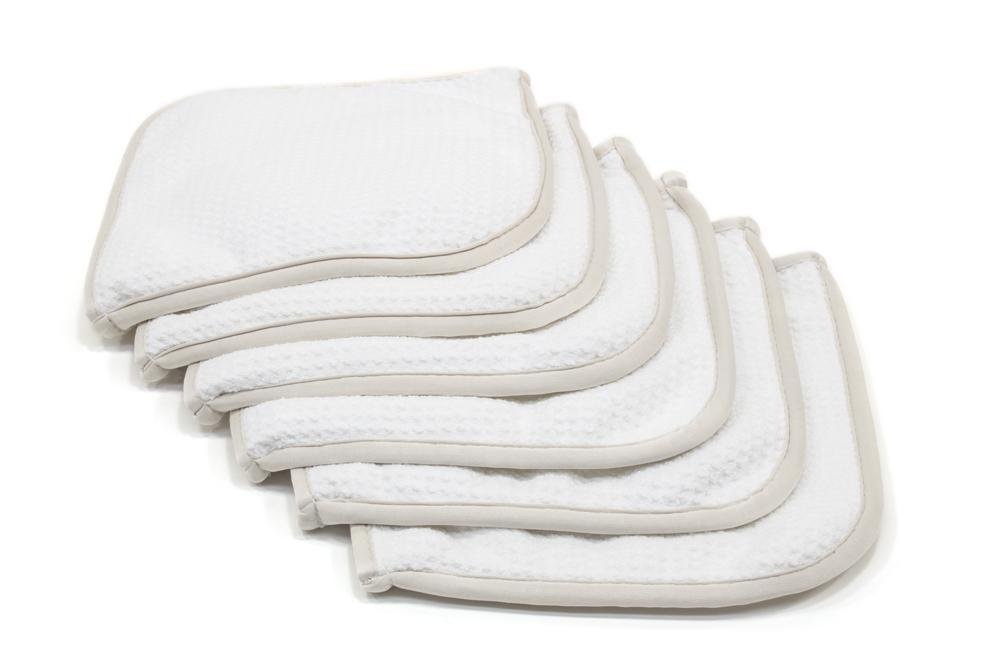 """Innovative Design Flips Inside Out for a Clean Towel Section Lint /& Streak Free - 6 Pack White Window /& Mirror Towel Glass Flip 8/""""x8/"""" Microfiber Glass"""