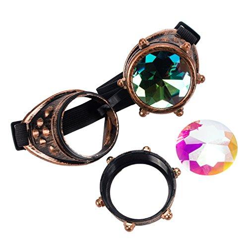 Steampunk Victorian Goggles Kaleidoscope Welding Glasses Diesel Punk Rustic Cosplay Costume Accessories ()