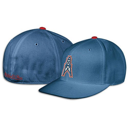 2693b7d80f6a81 ... best price mitchell ness tennessee titans houston oilers fitted  throwback hat 7 d8234 5cb4e