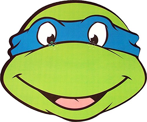 Teenage Mutant Ninja Turtles - Leonardo - Card Face (Leonardo Ninja Turtle Costume Uk)