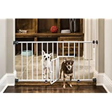 Carlson Pet Products 0680PW Mini Gate with Pet Door, White