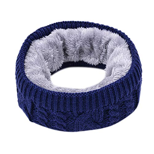 Clearance WUAI Winter Soft Fleece Lined Thick Knit Neck Warmer Circle Neck Warm Scarf Windproof