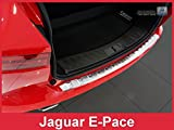 ZIC Motorsports Brushed Stainless Steel Rear Bumper Protector Guard for 2018-2019 Jaguar E-Pace