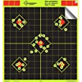12 X12 Sight In Adhesive Splatterburst Shooting Targets Instantly See Your Shots Burst Bright Fluorescent Yellow Upon Impact 25 Pack