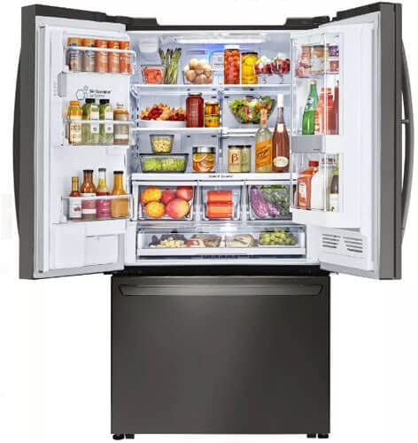 Black Stainless Counter-Depth French Door Refrigerator LFXC24796D LG LFXC24796D Ft LFXC24796D 23.5 Cu