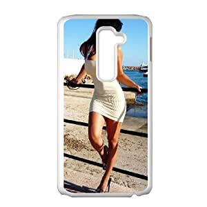 Celebrities Denise Milani Posing LG G2 Cell Phone Case White phone component AU_515302