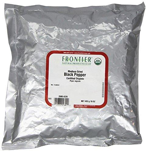 Frontier Pepper Black Medium Grind Organic, 1 Pound by Frontier
