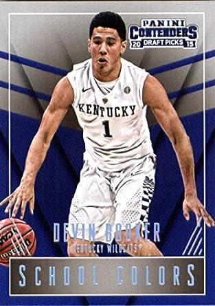 2015 Panini Contenders Draft Picks School Colors 15 Devin Booker Rookie Basketball Card In Protective Screwdown Display Case