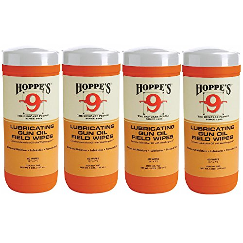Hoppe's No. 9 Large Lubricating Gun Oil Field Wipes (4-Pack, 240 (Hoppes Rifle Target)