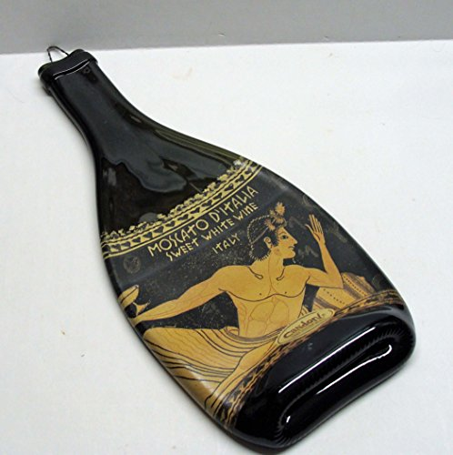 Candoni Moscato D'Italia Sweet White Wine Bottle Melted Flat UpCycled Platter (Best Sweet White Wine)