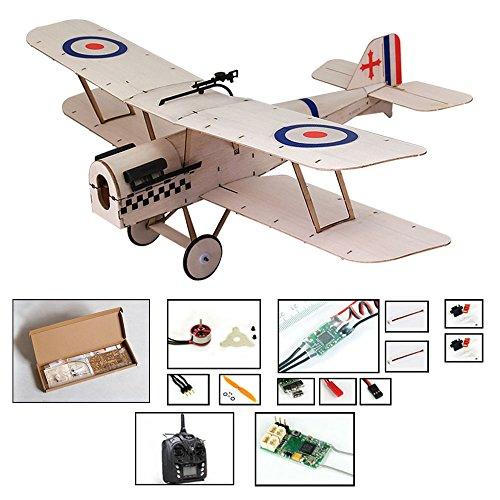 Balsa Wood Airplane Kit Micro 3 CH s.e.5a Royal Biplane Figther by DW Hobby Remote Control Plane for Adults;RC Un-Assembled Flying Model for Fun;Different Sets for Choice (K0404-L3)