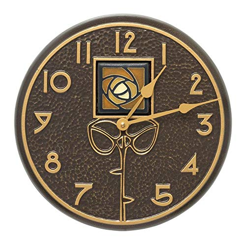 (Whitehall Products Amber Dard Hunter Rose Clock, French Bronze)